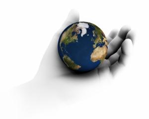 Globe Hand 2