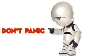 Marvin says Don't Panic