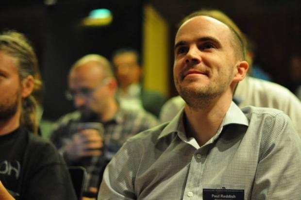 A non-presenting smiley Paul Reddish. Photo credit: Silvie Kotherova