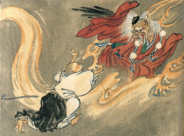 A bird-like Tengu portrayed by the artist Kawanabe Kyōsai.